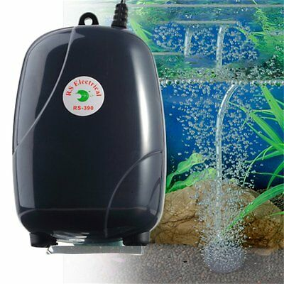 Efficient Two Outlets Air Pump 120 Gal Aquarium 48GPH 220V Super Silent NR