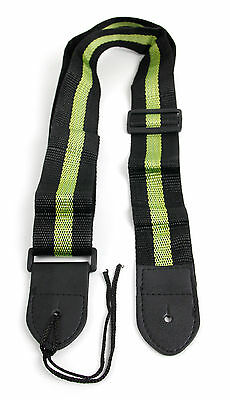 Black & Green Stripe Universal Guitar Strap For Acoustic Electric Bass Classical