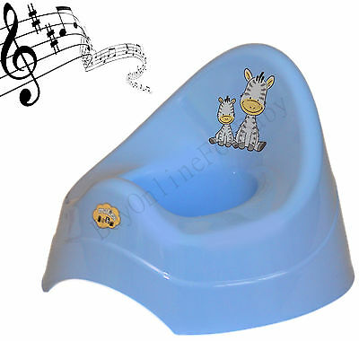 Baby Kids Plastic Potty Pot Toilet Seat Trainer Training Seat With Music Blue