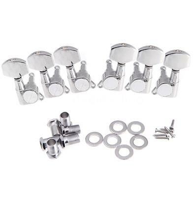 3R 3L Chrome Electric Acoustic Guitar String Tuning Pegs Machine Heads W4J1