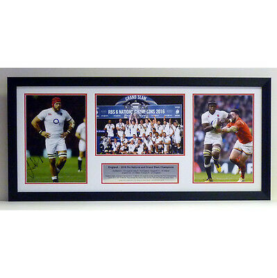 England - 2016 Grand Slam photo presentation signed by James Haskell