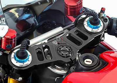 Ducati 1199 Panigale Triple Clamp Kit For Marzocchi USD Forks By CNC Racing