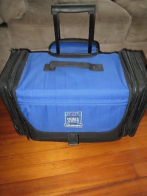 Scrapbooking Rolling Tote CREATIVE HOME ARTS Crafts Organizer Storage Case EUC