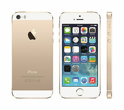 Apple iPhone 5s 16GB 64GB Gold Gray Silver White GSM Unlocked Smartphone
