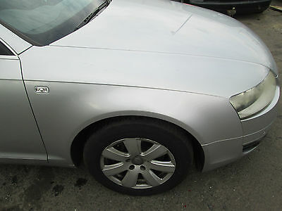 2005 Audi A6 C6 Driver Side Wing In Silver Ly7W