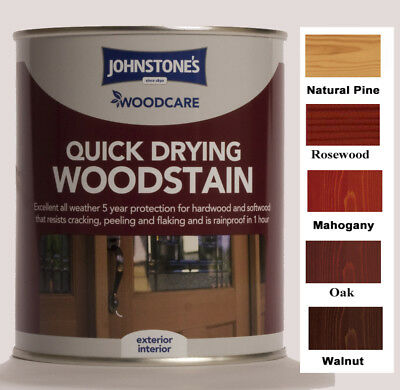 Johnstones Woodcare Quick Drying Woodstain 750ml Exterior Interior All Finishes