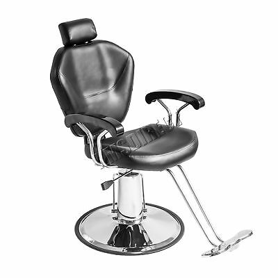 FoxHunter Salon Barber Hydraulic Reclining Chair Hairdressing Beauty Tattoo BLK