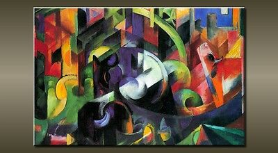"""Large Abstract Red Green Blue Canvas Wall Picture Flash Art 30"""" 20"""" 0193"""