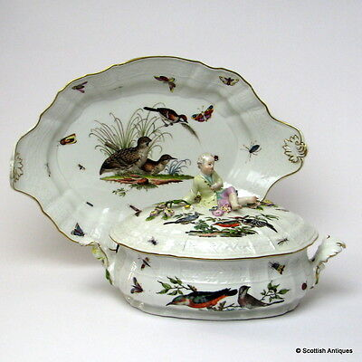 A Fine Meissen Porcelain Tureen Cover and Stand 1745-48