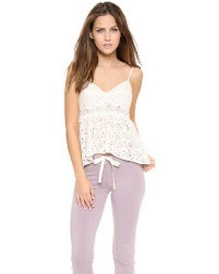 ZINKE Annabelle CAMI TOP Laser Cut FLORAL Off White LOUNGEWEAR Lingerie S USA