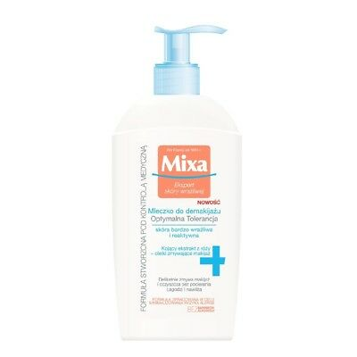 Mixa Makeup Remover Milk for Sensitive and Reactive Skin Soothes Moisturizes