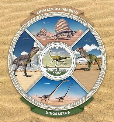 Z08 IMPERFORATED GB16609b GUINEA-BISSAU 2016 Dinosaurs MNH
