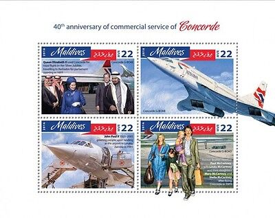 Z08 IMPERFORATED MLD16810a MALDIVES 2016 Concorde MNH