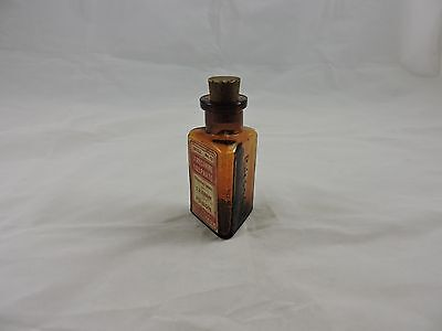 Poison Bottle Triangular Shape Full Label Strychnine Sulphate