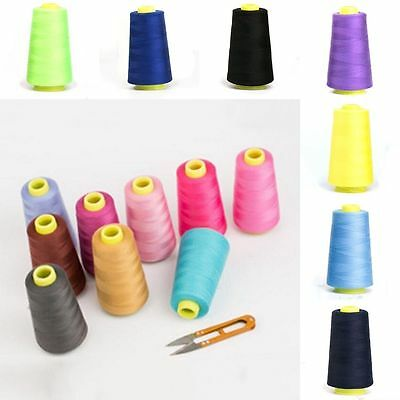 1pc Reel 3000 Yards Sewing Machine Multi-Purpose Colorful Pure Cotton Thread New