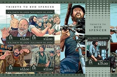Z08 SLM16302ab SOLOMON ISLANDS 2016 Bud Spencer MNH Postfrisch Briefmarken Set