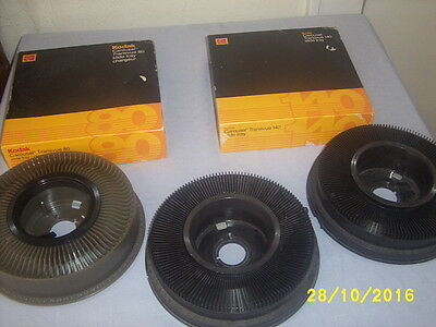 Lot of 5 Carousel Slide Trays 2 80's & 3 140's 2 with boxes