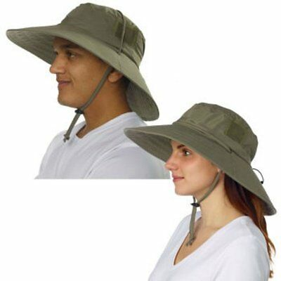 Sun Protection Zone Adult Unisex Lightweight Booney Adjustable Hat 100SPF Olive