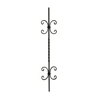 ALEKO 37 Inch Black Powder Coated Baluster Pack Of 2