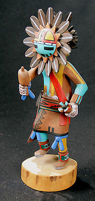 """Hopi Sun Kachina 10"""" by William James, Handcarved Cottonwood Root, Signed"""