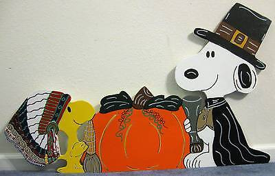 Made after Order Snoopy and Woodstock  Pilgrim Thanksgiving Yard Art Decoration
