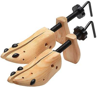 One Pair Wooden Adjustable Shoe Stretcher Professional Vintage 5 to 14 MEN WOMEN
