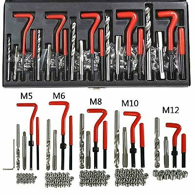 131pc Helicoil Thread Rethread Repair Kit Set M5 M6 M8 M10 M12 Metric