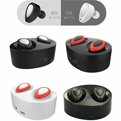 Mini Wireless Bluetooth Twins Independent Stereo In-Ear Headset Earphone Earbuds