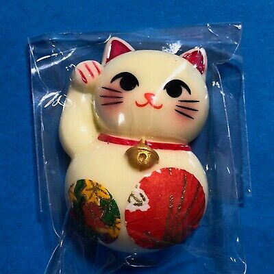 F/S Maneki Neko Fridge Magnet Lucky Money Fortune Cat Cute Kawaii E from Kyoto