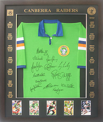 Blazed In Glory - Canberra Raiders Legends - NRL Signed and Framed Jersey