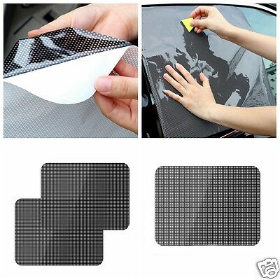 1Pair Car Window Sunscreen Pad Pasting Glass Electrostatic Adsorption Shade Film