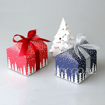 20x Christmas Eve Gift Box Party Favour Cookies Biscuit Candy Present Boxes Bags