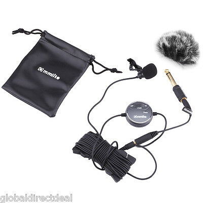 Hot Omnidirectional Lavalier Microphone Clip-on Mic for GoPro Camcorder iPhone