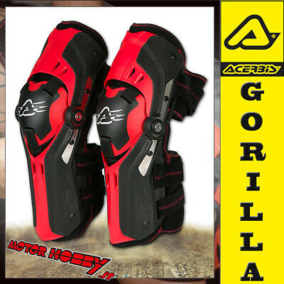 Ginocchiere Snodate Off Road Cross Enduro Acerbis Gorilla Knee Guards Nuovo Mod.