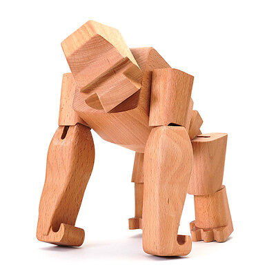 NEW Areaware Hanno The Wooden Gorilla
