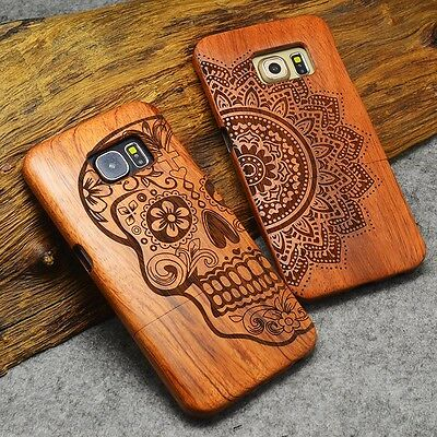 Handy Hülle Für iPhone 5 5s 6 6s 7 Plus Samsung Natural Wooden Wood Case Cover