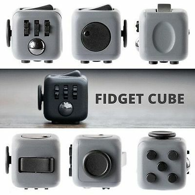 Fidget Cube Anxiety Stress Relief Focus 6-side Dice For Adults Child In Stock