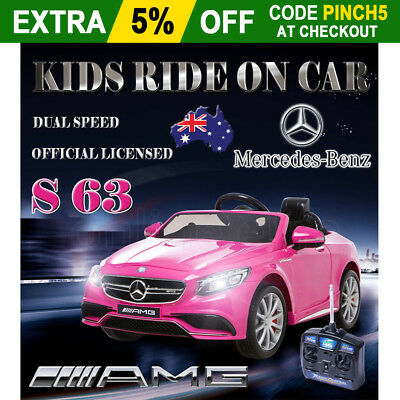 OZ Licensed Mercedes Benz S 63 AMG Kids Electric Ride on Car Children Toy Remote