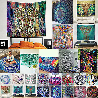 Hippie Indian Bohemian Tapestry Wall Hanging Throw Bedspread Ethnic Art Blanket