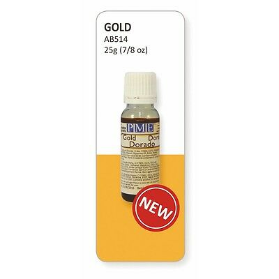 PME Gold Lustre Edible Airbrush Colour 25ml - Cake Decorating and Sugarcraft