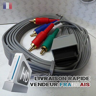 Cable TV HD YUV pour Nintendo WII NEUF