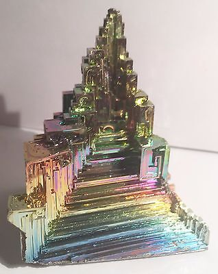 Spectacular 147.7 Gram 999.0 Pure BISMUTH CRYSTAL CASTLE (Great Investment)