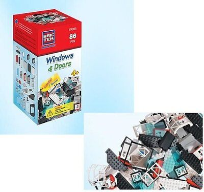 Brictek Doors & Windows 86 Pieces Building Set by Brictek 19005 BICY9005 BRICTEK