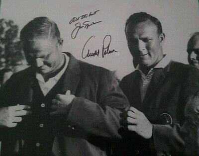 PGA Legends Jack Nicklaus and Arnold Palmer Autographed Glossy 11x14 Photo COA