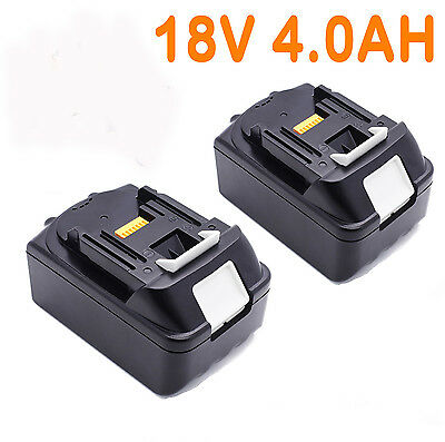 2x For Makita 18V 4.0AH BL1840 BL1830 BL1815 LXT Lithium Ion Battery Cordless