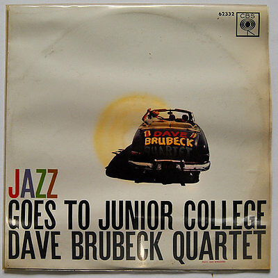Original LP / Vinyl DAVE BRUBECK QUARTET: Jazz Goes To Junior College, 1957