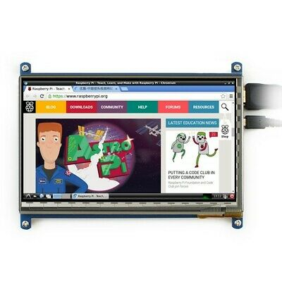 """New 7"""" Capacitive Touch Screen LCD Display 1024x600 HDMI For Raspberry Pi 2 3"""