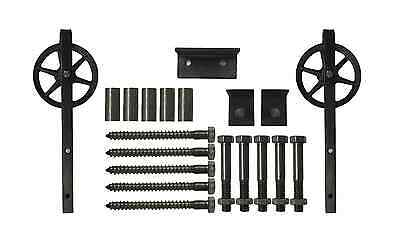 9 Ft Sliding Barn Door Hardware Kit | 9 Feet Rustic Raw Steel Vintage USA