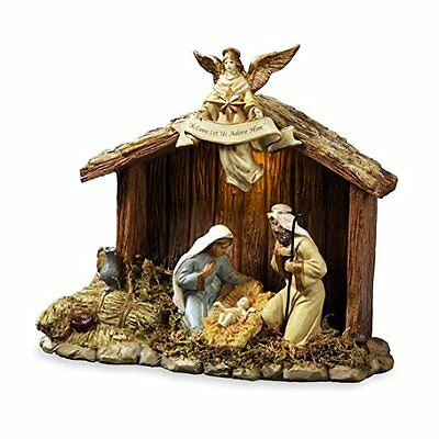 Nativity Stable with Holy Family Musical Nativity Set 842970052616 The San Frans