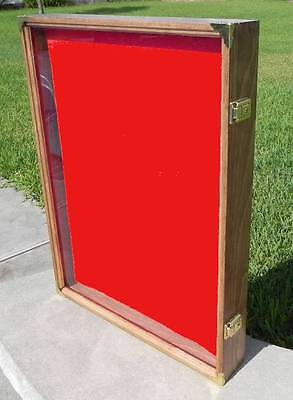 """Display Case 18X24X3 Wall Mount For Items Up To 2"""" Thick Pistols Knives Fossils"""